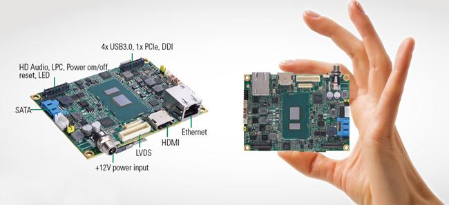 内建1组最高达16GB的260-pin DDR4-2133 SO-DIMM插槽存储器,配备1组全尺寸PCI Express Mini Card插槽支援mSATA功能、高速与低速讯号连接器各1组,其讯号包含1组PCIe x1通道、1组LPC、1组DDI、4组USB 3.0、1组SMBus和HD音频装置等扩充界面,以满足各种通讯需求;可另外搭配艾讯独家开发的I/O模块,以提升未来扩充的可能性。采用Intel® HD绘图引擎,实现前所未有的真4K高画质视觉体验,配备HDMI与18/24单/双通道LVDS